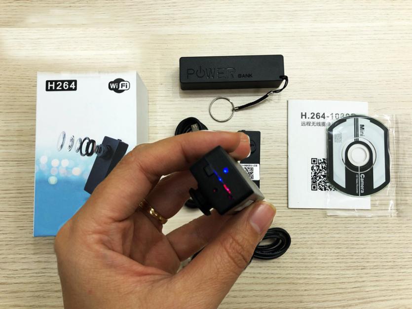 camera mini wifi dạng cúc áo